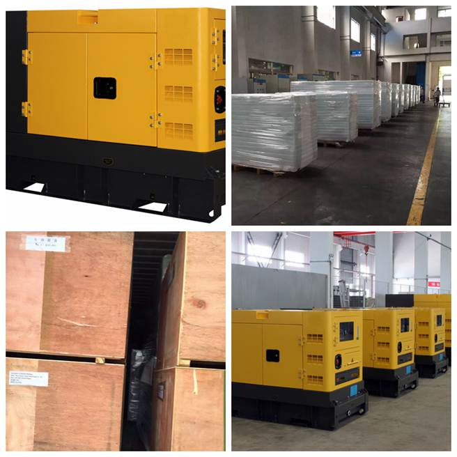 3 Phase Container Diesel Generator Set 50Kva Anti - Vibration Isolaters