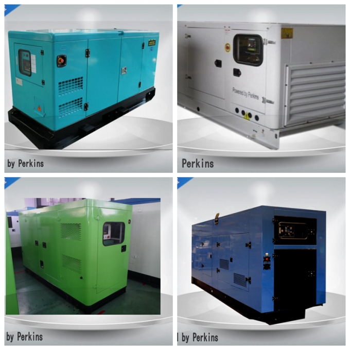 Canopied Industrial Diesel Generators Set Weatherproof With OEM / ISO Certification