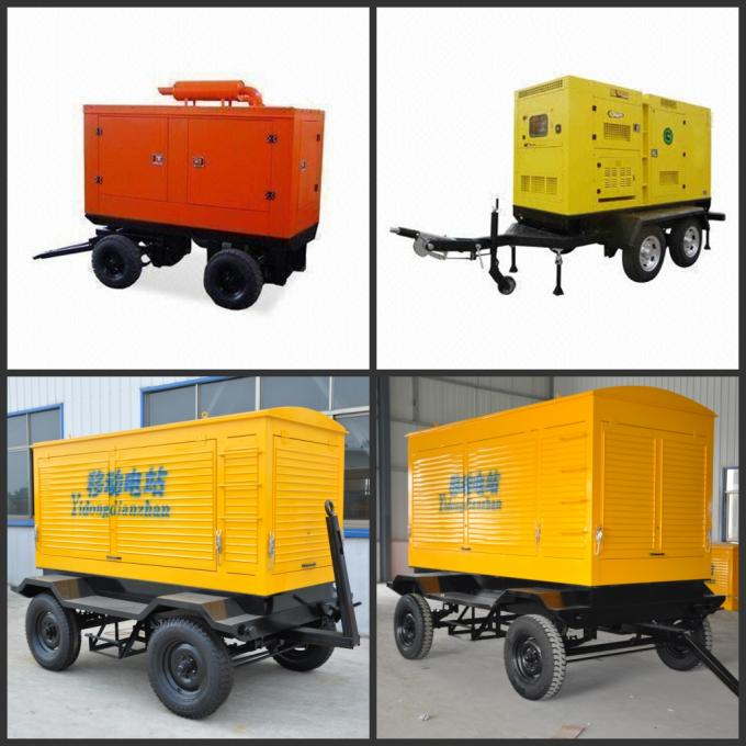 Movable Three Phase Trailer Mounted Generator Silent Type 200-500Kw 600Kva