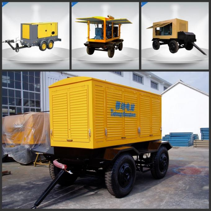 CE / ISO 3 Phase Trailer Mounted Diesel Generator Soundproof six Cylinder