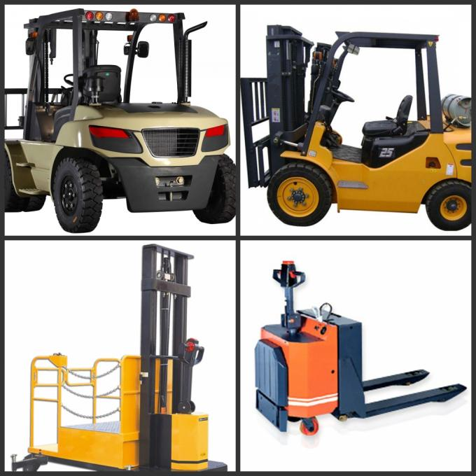 3.0 Ton AC Motor Yellow Electric Forklift Truck Hire With Isuzu C240 Engine
