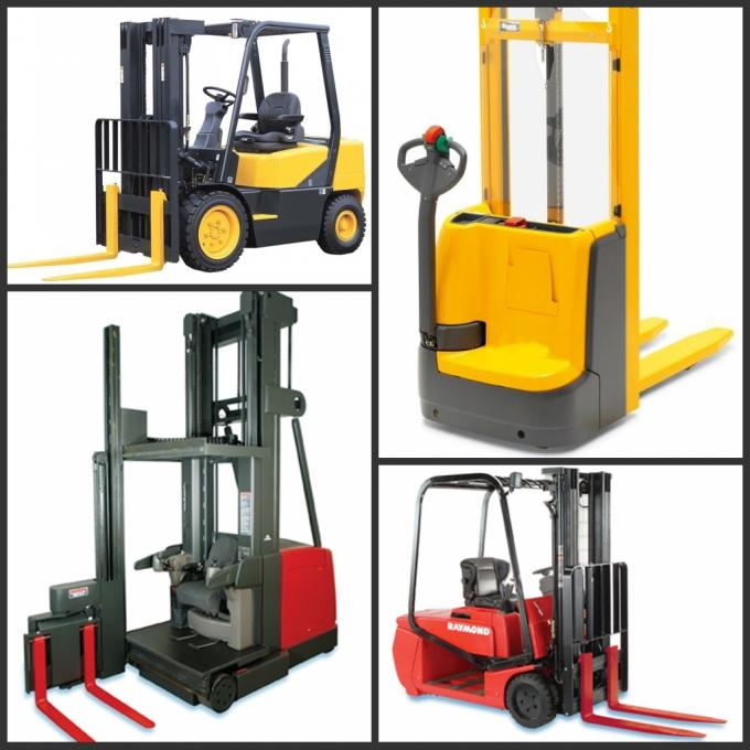 3 Ton All Terrain Articulated Forklift Truck No Noise For Height Rough Terrain