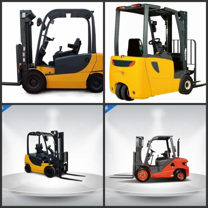 Gasoline Engine Powered Order Picking Forklift Truck Germany Imported Mast Steel