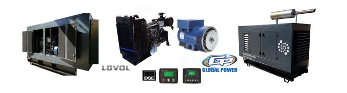 Global Power Open Diesel Generator 40 KVA / 32 KW Loval / Perkins Low Fuel Consumption