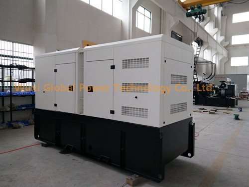 500 KVA Global Power Generator Set Perkins 6 Sylinder Water - Cooled Engine