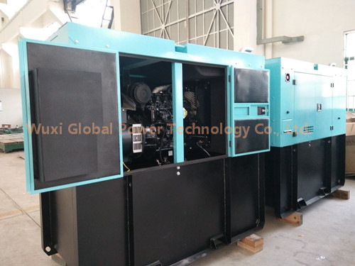 Low noise 200 KW Perkins Silent Diesel Generator Set 6 Cylinder Water Cooled Low fuel Consumption