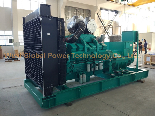 "Global Power 12-Cylinder in ""V"" 600 KW Cummins Generator Set Low Fuel Consumption"
