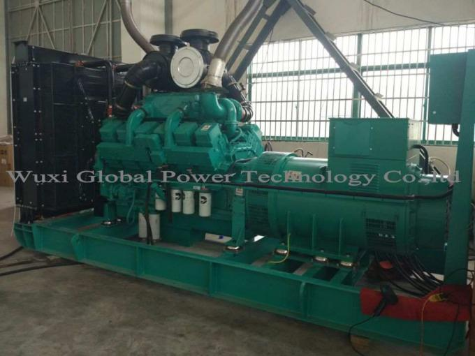 Cummins Diesel Engine KTA38-G2A 12 Cylinder Open Diesel Generator Set Prime 800KW / 1000KVA Water Cooled