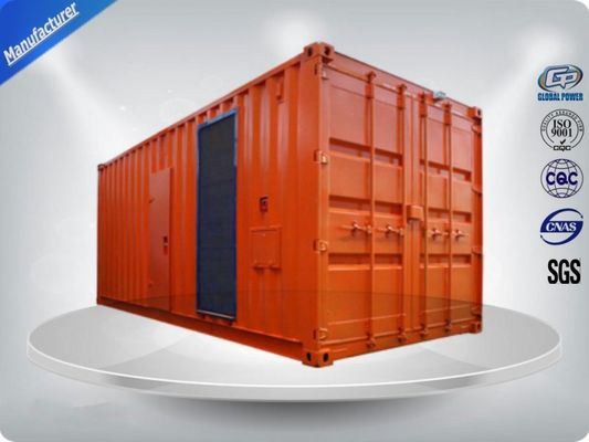China Three Phase Diesel Container Generator Set 75 dB Water - Cooled 1080-1350 kw/kva supplier
