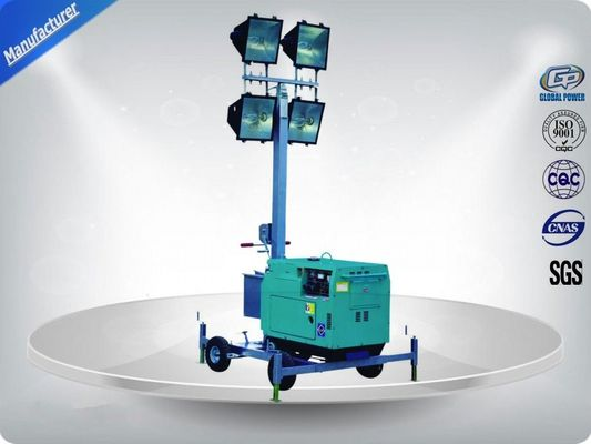 China 60Hz  Single Phase Portable Mobile Light Tower Rental With Diesel Generator supplier