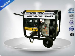China Air Cooled Silent Portable Generator Set 5.5 -6.3 Kva Open Type With Manual  Starter supplier