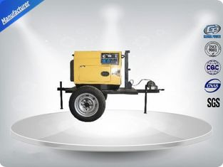 China 3 Cylinder 75dB large Trailer Mounted Generator 64 kw Output Power in - line Config supplier
