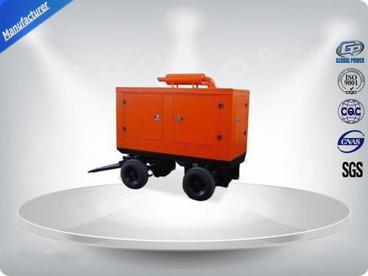 China 400 / 230V Portable Trailer Mounted Generator 191 Kw Output Power In - Line Config supplier