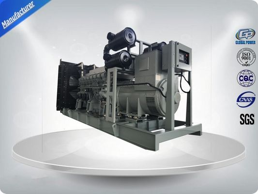 "China 1000 KW / 1250 KVA MITSUBISHI Open Diesel Generator Set , 12 Cylinder in ""V"" ,  Water-cooled supplier"