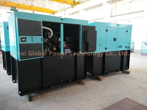 China Canopy 150 KVA Perkins Super Silent Diesel Generator Set Low Fuel Level Alarm Remote Control supplier