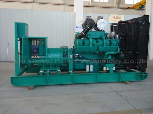 China Cummins Diesel Engine KTA38-G2A 12 Cylinder Open Diesel Generator Set Prime 800KW / 1000KVA Water Cooled supplier