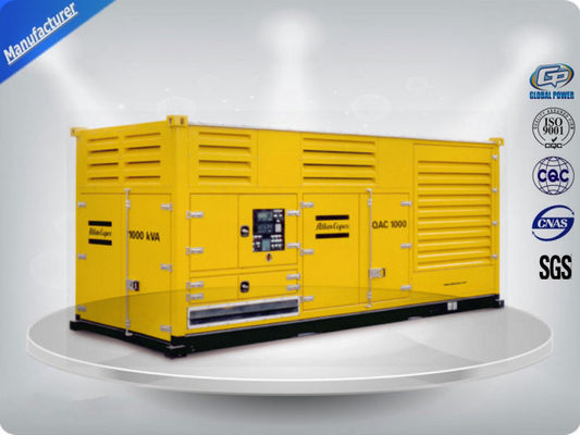 China 1000 Kw Container diesel generator set powered by Cummins diesel engine 16 cylinder distributor
