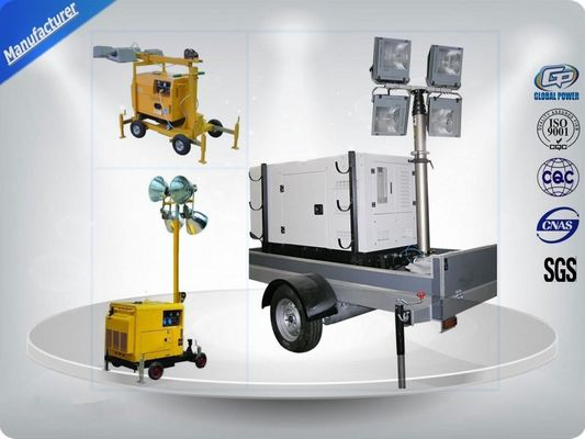 China Air - Cooled Telescopic Light Tower / Manual Trailer Mounted Light Towers distributor