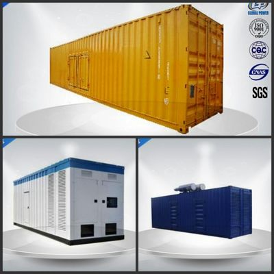 China Sixteen Cylinder Container Generator Set 780-975 Kw / Kva With VMAN Diesel Engine distributor