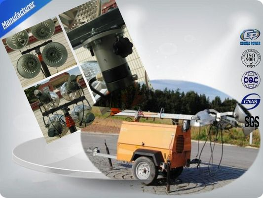 China Single Cylinder Diesel Trailer Mobile Light Tower Rental With Air - Cooled distributor