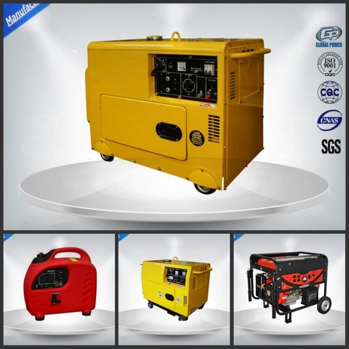 5.0 Kva Diesel Portable Generator Set Silent Type With Electric Starter